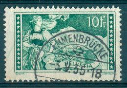 Switzerland - Yvert 245 - 10 Francs Vert-gris (1930-1931) (cancel Emmenbrucke) - Schweiz