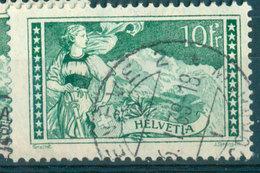 Switzerland - Yvert 245 - 10 Francs Vert-gris (1930-1931) (cancel Geneve) - Schweiz