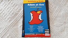 Théatre Adam Et Eve Jean-Claude Grumberg Gildas Bourdet Michel Aumont Louis Beyler Geneviève Fontanel - Teatro