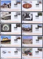 Greece 2019 150 Years Of Greek Railroads Unofficial FDC From The Self-adhesive Booklet 10 Different Covers - FDC