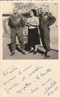 Photo Militaire  Officiers Médaillés Du 7é R.T.A. 2é Bat. C.b.2 Et Madame ( Tintin Et Gaston ) - Guerra, Militari