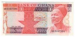 Ghana 5 Cedis 02/01/1980 UNC .C4. - Ghana