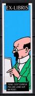Tintin : 1 Ex-libris Tintin : Professeur Tournesol. - Exlibris