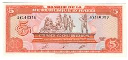 Haiti 5 Gourdes 1989 UNC .C4. - Haïti