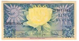 Indonesia 5 Rupiah 1959 UNC .C4. - Indonésie