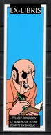 Tintin : 1 Ex-libris Tintin : Rastapopoulos. - Exlibris