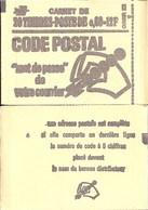 """CARNET 1815-C 1 Marianne De Béquet """"CODE POSTAL"""" Daté 12/12/74 Avec Date COMPLETE Fermé Parfait état TRES TRES RARE - Freimarke"""