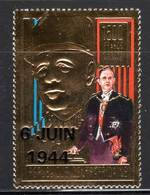 CENTRAFRIQUE - DE GAULLE - N° PA 415 ** (1994) Surcharge 6 Juin 1944 - De Gaulle (General)