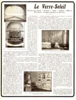 """PUB   """" LE VERRE-SOLEIL  """"   1909 ( 1 ) - Technical"""