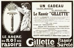"PUB RASOIR  "" GILETTE ""   1909 ( 4 ) - Perfume & Beauty"