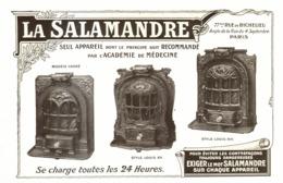 "PUB  CHAUFFAGE  "" LA SALAMANDRE  ""   1909 ( 1 ) - Technical"