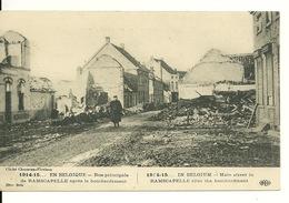 1914-15 EN BELGIQUE / RUE PRINCIPALE DE RAMSCAPELLE APRES LE BOMBARDEMENT - Nieuwpoort