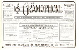 """PUB """" COMPAGNIE FRANCAISE De GRAMOPHONE   """" 1909 ( 8 ) - Technical"""