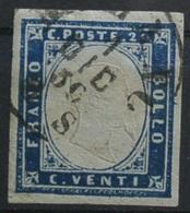 A.S.sARDEGNA 20c INDACO.Usato  (Awei-96 - Sardaigne