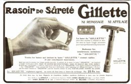 "PUB RASOIR  "" GILETTE ""   1909 ( 5 ) - Perfume & Beauty"