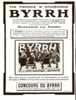 """PUB    """" BYRRH  """" ( CONCOURS Du BYRRH )  1909  ( 63 ) - Alcohols"""