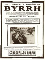 """PUB    """" BYRRH  """" ( CONCOURS Du BYRRH )  1909  ( 64 ) - Alcohols"""