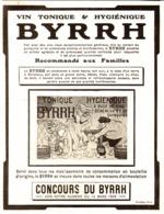 """PUB    """" BYRRH  """" ( CONCOURS Du BYRRH )  1909  ( 65 ) - Alcools"""