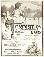 """PUB EXPOSITION INTERNATIONALE De """" NANCY """"   1909 ( 1 ) - Lorraine - Vosges"""