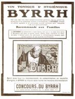 """PUB    """" BYRRH  """" ( CONCOURS Du BYRRH )  1909  ( 61 ) - Alcohols"""