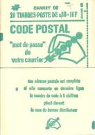 """CARNET 1893-C 1a Marianne De Béquet """"CODE POSTAL"""" Daté 27/8/76 Fermé. Parfait état TRES RARE - Freimarke"""