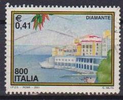 ITALIA  REPUBBLICA 2001 PROPAGANDA TURISTICA SASS. 2533 USATO VF - 2001-10: Usati