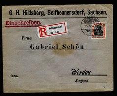 A6112) DR R-Brief Seifhennersdorf 02.04.12 N. Werdau M. EF Mi.89I - Deutschland