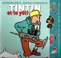 Tintin : Livre D'autocollants Tintin Repositionnables : Tintin Et La Yéti ( Déjà Utilisé ). - Autres