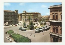 CT--02888-- PALERMO-PIAZZA GIULIO CESARE -AUTO EPOCA-FILOBUS-VIAGGIATA 1966 - Palermo