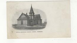 AURORA, Nebraska, USA, United Brethren Church, 1909 Postcard - Autres