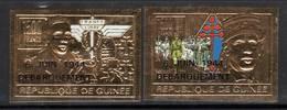 GUINEE - DE GAULLE - PA  N° 291/2  **  (1994) NON DENTELE / Surcharge 6 Juin 1944 - De Gaulle (Generale)