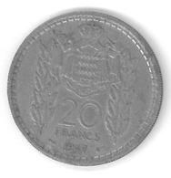 MONACO - 20 FRANCS 1947 - LOUIS II - Monaco