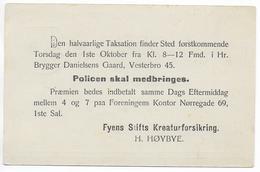 DANMARK - TYPE 1888 - CP ENTIER POSTAL Mi Nr. P17 OBLITEREE De ODENSE En 1903 AVEC REPIQUAGE Au DOS - Entiers Postaux
