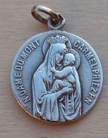 Médal-258 Médaille  En Argent (poinçon) Signée Pénin , Anagramme P.P.N.D. Du Mont (poinçon) - Religion & Esotericism