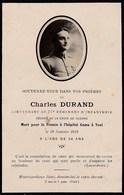 GUERRE  1914-1918   ---   Avis De Décès D'un Lieutenant Au 77ème R.I  ---  Mort Pour La France - War 1914-18