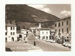 CT--02891-- FOLLINA( TREVISO ) PIAZZA G. MARCONI-VIAGGIATA 1967-AUTO EPOCA-PUBBLICITA CAMPARI - Altre Città