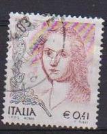 ITALIA  REPUBBLICA 2003 LA DONNA NELL'ARTE SASS. 2725 USATO VF - 2001-10: Usati