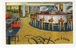 PLATTSBURG, New York, USA, Fife & Drum Bar, Hotel Witherill, Old Chrome Advertising Postcard - NY - New York