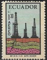 ECUADOR 1972 Air. Oil Industry - 1s30 Oil Rigs MH - Ecuador