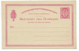 DANMARK - TYPE 1882/1885 - CP ENTIER POSTAL Mi Nr. P23 NEUVE - Interi Postali