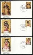 Polynésie 3  Lettres Illustrées  Premier Jour Papeete Le 27/06/1988 N° 307 à 309  Poupées Polynésiennes   TB - Poupées