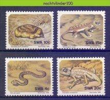 Mmg382 FAUNA REPTIELEN KAMELEON SLANG SNAKE MOLE GECKO CHAMELEON REPTILES SWA 1978 PF/MNH - Reptiles & Batraciens