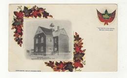 WEBBWOOD, Ontario, Canada, School House, Pre-1908 UB Patriotic Postcard, Sudbury County - Ontario