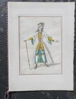 Président Charles De Gaulle Reçoit à L'Opéra Président Du Chili, Eduardo Frei.Maquettes De Marc Chagall.Aquarelle Boquet - Programma's