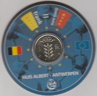 Disque De Conversion Monétaire Datant Du Début De L'Euro Avec Pièce De 1 FB Sous Blister. (CW) - Belgique