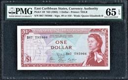 East Caribbean 1 Dollar 1965 Gem Unc PMG 65 EPQ - Oostelijke Caraïben