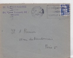 LSC  ANGERS R.P.  1953 - Marcophilie (Lettres)