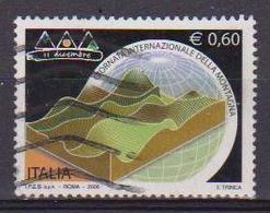 ITALIA  REPUBBLICA 2006 GIORNATA DELLA MONTAGNA SASS. 2893 USATO VF - 2001-10: Usati