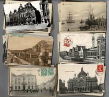 Lot De 120 Cartes De Belgique Diverses( Drouilles Avec Timbres Décollés Et Autres Timbrées Et Correctes) - Cartes Postales