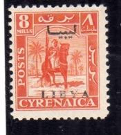 LIBIA LIBYA 1951 REGNO INDIPENDENTE EMISSIONE PER LA CIRENAICA CYRENAICA 8m MNH - Libia